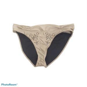 Odd Molly tan embroidered bikini bottoms